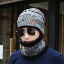 19 style knit scarf cap neck warmer Winter Hats For Men women warm Leisure Baggy Beanies Fleece Knit Bonnet Hat balaclava