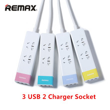Original Remax RU-S3 USB Charger 3 USB 2 Charger Socket 2.1A Standard EU Plug extension Socket for travel household