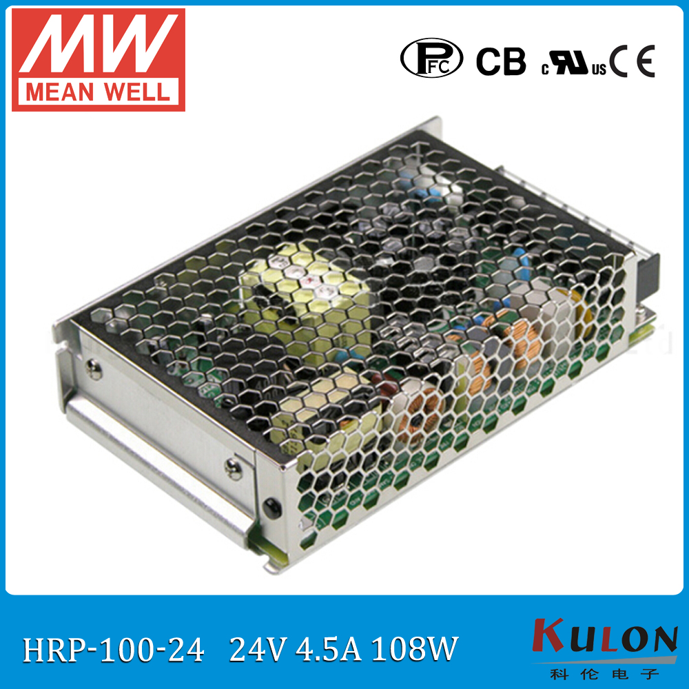 Original MEAN WELL HRP-100-24 single output 100W 4.5A 24V meanwell Power Supply 24V with PFC function  <br>