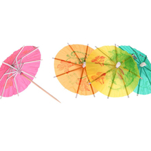 72 Pieces Colorful Mixed Paper Cocktail Drink Umbrellas Parasols Picks for Party Drinks