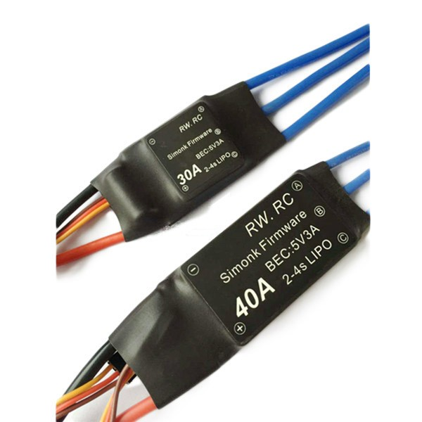 Simonk 30A/40A 2-4S Brushless ESC Speed Control for Multicopter<br><br>Aliexpress