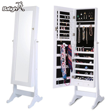 Buy Balight Indoor Home Square Floor Type Mirror Cabinet Organizer Sports Accessories Cosmetics Jewelry Storage Cabinet Ship US for $154.00 in AliExpress store