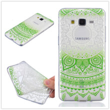 Ultra-thin Transparent Hollow Retro Vintage Flower Soft TPU Mobile Phone Case For Samsung Galaxy Grand Prime G530 Back Cover