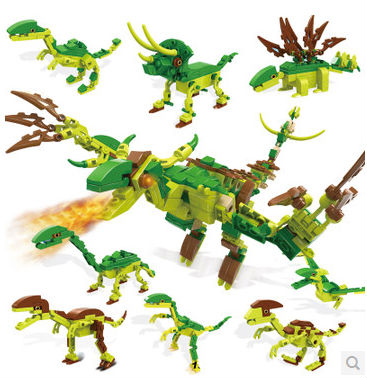 COGO Military Series 13008 Dinosaur 8 pcs/ a lot 25 models Building Block Sets Educational DIY Bricks Toys Best gift for kids<br><br>Aliexpress