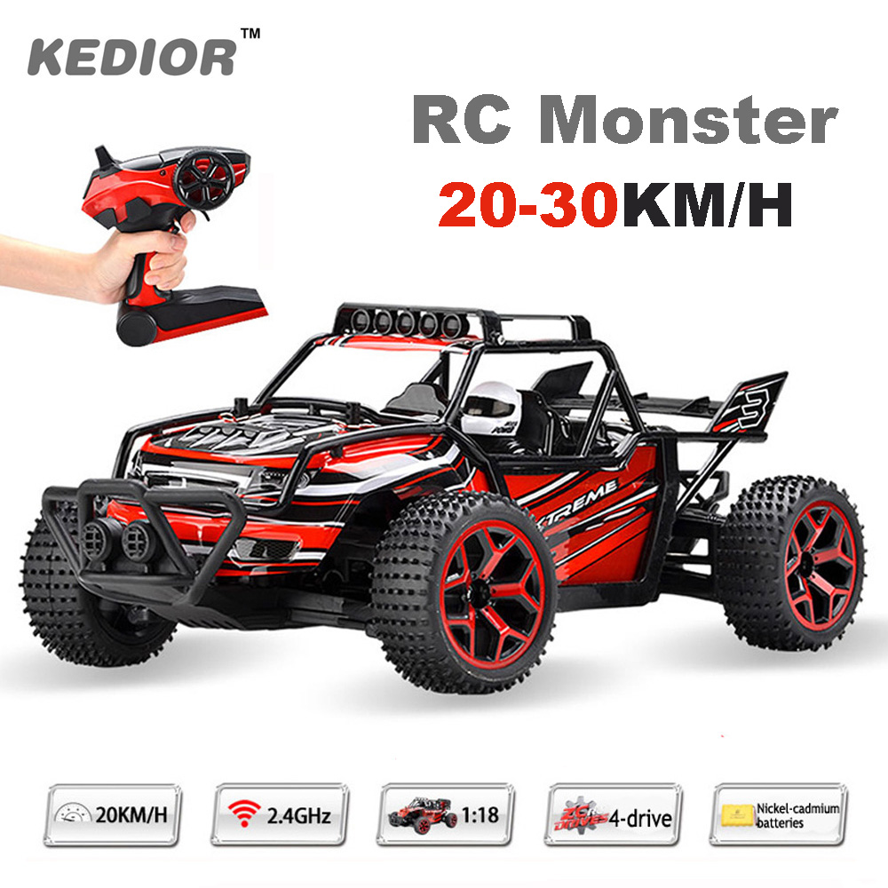 RC Cars Rock Off-Road Vehicle 2.4Ghz 4WD High Speed 1:18 Remote Control Racing Cars Fast Race Buggy VS WL TOYS A959 RC Car<br>