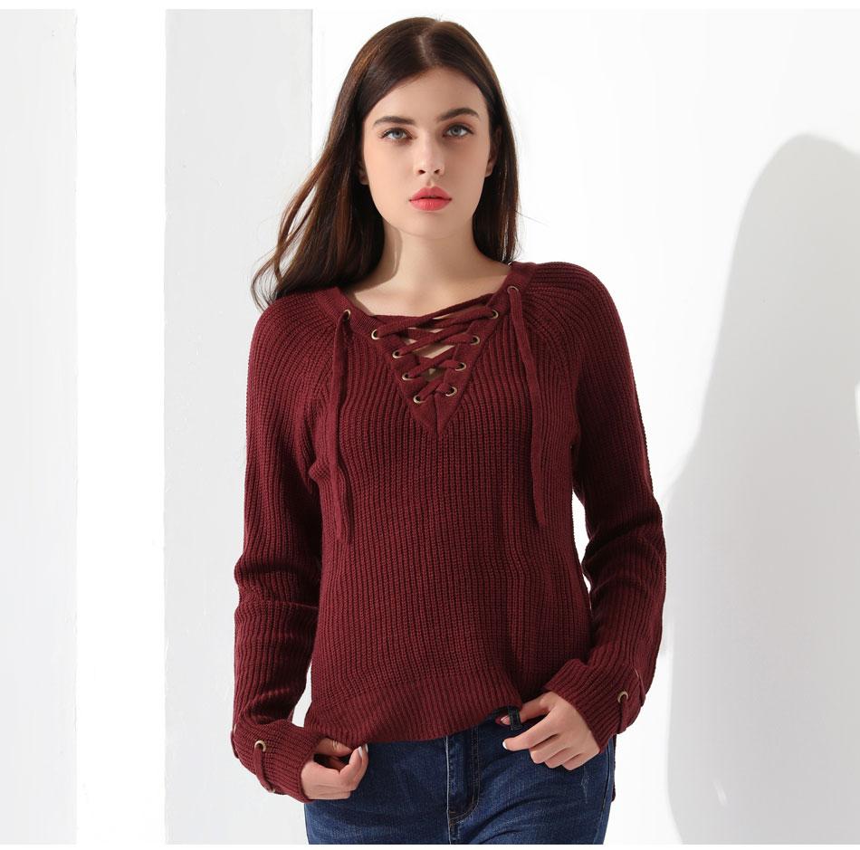 Women's Pullover Long Sleeve KnittedSweater 36