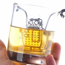 E74 1PC Robot Hanging Tea Leaf Diffuser Infuser Stainless Strainer Herbal Spice Filter