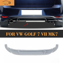 Golf 7 MK7 PU Unpainted Rear Bumper Lip Diffuser for Golf 7 VII MK7 Standard 2014 2015 2016 Car Styling RDX Style