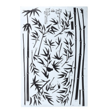 Black Bamboo Wall Sticker PVC Removable Art Decal Mural Home Office Room TV Wall Decoration Chinese Style DIY Craft(China)