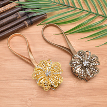Flower Shaped Magnet Curtain Tieback Magnetic Curtains Buckle Window Screening Ball Clip Holder Accessories 4 colors(China)