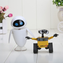6-10cm 2pcs/set Wall-E Robot Wall E & EVE PVC Action Figure Collection Model Toys Dolls