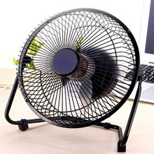 6/8/10inch New USB Gadgets Mini USB Fan For Laptop/PC Metal Electrical 360 Rotatable USB Fan Cooler Rechargeable Battery Desk(China)