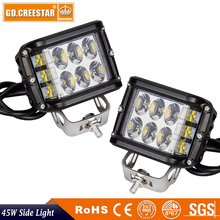 45W Side Shot Pod 3x3 9LED's Cube Led Work Light 12V 24V 45W Off Road Lamp Driving Lights Single Side Light UTV RZR Truck 1pair
