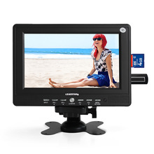 Fashion Small Portable 7inch HD TV LED Display 428*234 AV TV USB No Operating System Mini Wide Screen LCD Television For Outdoor(China)