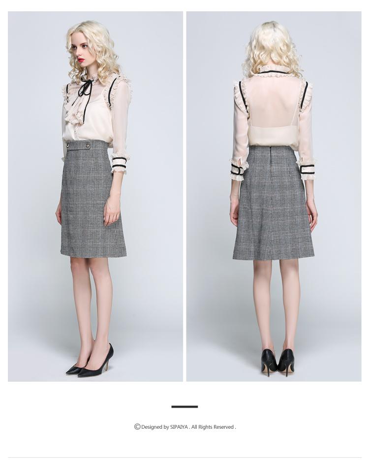 Women Houndstooth Skirt (15)