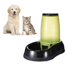 Pet Automatic Feeding Device Feeder Water Bottle For Kitten Cat Drinking Dispenser Dog Bowl Water Bowl for small large pet cat(China)