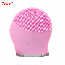 Tcare Rechargeable Beauty Ultrasonic Electric 3D Facial Cleaning Cleaner Brush Massage Face Cleansing Brush Massager(China)