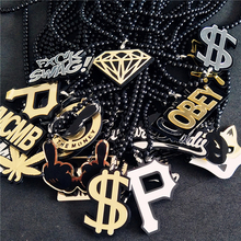 US Dollar 187 BOY London P Anti-War YMCMB Badge Fashion Pendant Car Styling JDM Rearview Mirror Ornament Hip Hop Charm Necklace