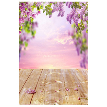 3x5ft Spring backdrops Vinyl backdrops Flower Photo background, Purple (A)