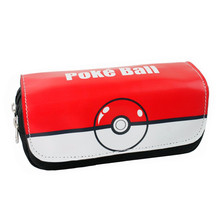 FVIP Cartoon Cosmetic Makeup Pencil Pen Case Bag Pokemon Go Gravity Falls Minecraft Doctor Who Zelda Pokemon Ball Purse Bag(China)