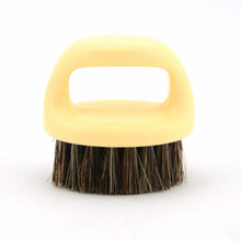 ZY Mustache Beard Shaving Brush Natural Horse / Bristle Hair Men Shave Beard Comb For After Shave Round Handle(China)