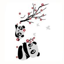 DIY Panda Bamboo Pattern Removable Vinyl Decal Home Decor Wall Sticker Panda Photo Wall Mural papel parede PVC 70*50cm
