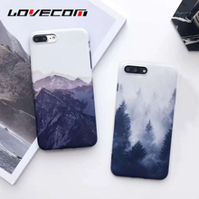 Buy LOVECOM Vintage Mountain Forest Clouds Print Phone Case iPhone 8 8 Plus Soft IMD Back Cover Landscape Scenery Coque for $2.55 in AliExpress store