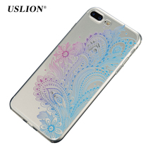 Buy USLION Phone Cases iPhone 7 Lace Flower Case Capa Coque iPhone7 6 6s Plus Soft TPU Transparent Clear Silicon Back Cover for $1.27 in AliExpress store