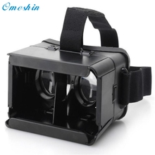Top Selling! 2017 Popular For Google Cardboard Plastic Version VR Universal Virtual Reality 3D Glasses high quality Feb27(China)