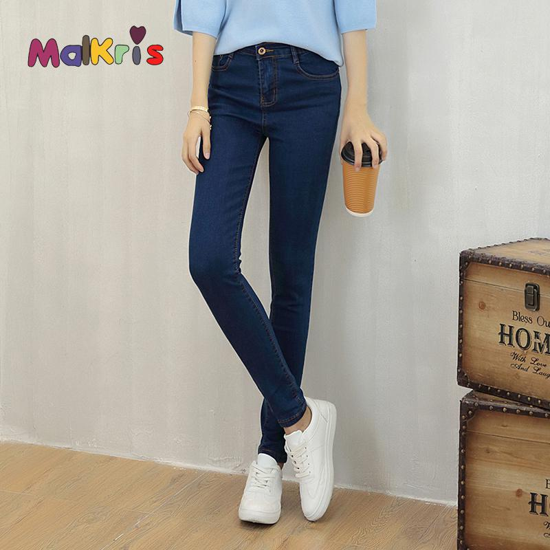 Jeans Woman Mid Waist Female Slim Jeans Stretch Skinny Pencil Pants Black Gray Blue Casual Denim American Apparel Pant Plus SizeОдежда и ак�е��уары<br><br><br>Aliexpress
