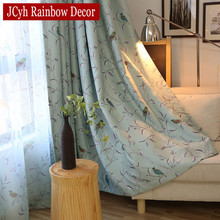 Bird Blackout Curtains For Bedroom Blinds Rolling Windows Curtains For Kitchen Living Room Fabric For Curtains Cortinas Jalousie(China)