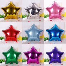 5 PCS big 10 inch Five-pointed star luminum foil balloon wedding birthday party wedding Market hotel supplies air ballons(China)