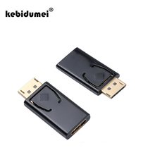 kebidumei Displayport DP Display Port To HDMI Connector Converter Adapter For NVIDIA AMD PC Notebook Laptop Monitor HD HDTV