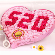 Love 520 + bracelet rose soap flower gift box Valentine 's Day gift creative gift wedding decoration(China)