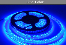 LED strip 2835 blue DC12V 5M 60led=1 meters 300led=5 meters=1roll 3led=1 scissor Flexible Glue waterproof IP65 led lamp smd 2835