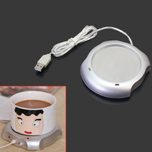 1Pcs Electric USB Powered Cup Mug Milk Tea Coffee Drinks Warmer Heater Tray Mat Pad Insulation Coaster Office Heating Device