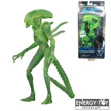 "Movie Aliens vs Predator Series GREEN thermal vision warrior alien 7"" cool pvc model toy action figure doll"