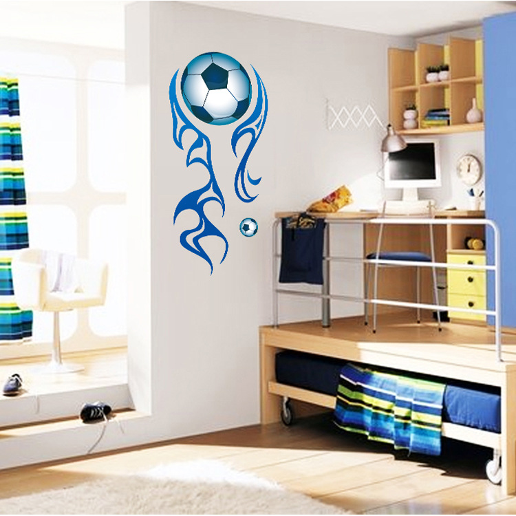 Hot wholesale three generations of youth power stick a World Cup soccer wall stickers style(China)