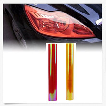 Hot-selling Car Headlight Fog Lamp Protect Film Vinyl Wrap Overlays Sheet Dropship 170908(China)