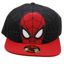 New Arrival Spider Man Cosplay Cap red Marvel Comics Hero ladies dress Hat charm Costume Props Baseball cap canvas snapback caps(China)