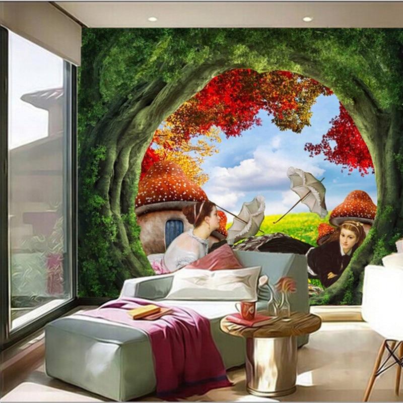 Custom 3D murals,falls in the beautiful forest papel de parede,living room sofa TV wall bedroom restaurant vintage wallpaper<br>