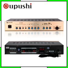 Oupushi 160W KTV amp HiFi 2.0 channel MP3 play Bluetooth digital amplifier karaoke amplifier home theater audio With Speakers(China)