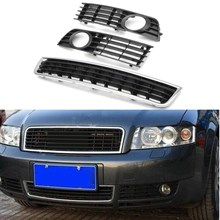 3 Pcs/Set Car Fog Light Grill Bumper Center Right Light For Audi /A4 /B6 /Sedan 2002-2005