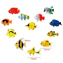 12 pcs Assorted Ocean Pet Figures Party Toy Gift Small Size Sea Life Model Toys PVC Pool Fish Toy Early Education Marine Animals
