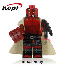 Single Sale KF364 Super Heroes Hell Boy Fixer Thuderbolts Captain Canuck Marvel Melter Bricks Building Blocks Children Gift Toys