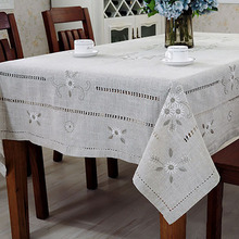 Linen Table Cloth Woven Printed Pastoral Embroidery Handmade Christmas Tablecloth Mantele Para Mesa Nappe Bugaboo Toalha De Mesa
