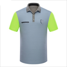 Branded Polo Golf sports men shirts summer thin short sleeve splice breathble quick dry golf t shirt for men gray blue pink XL
