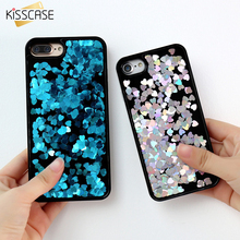 KISSCASE For iPhone 6 7 Case Luxury Glitter Dynamic Hard Phone Cover Cases For iPhone 6 6S Plus iPhone 7 Plus Accessories Fundas