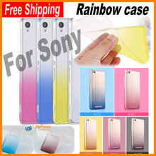 Ultra Thin TPU Gel Soft Rainbow Cover Case for Sony Xperia Z5 / C5 ultra / X XA / X Performance XP / C6 / XZ / Compact Premium
