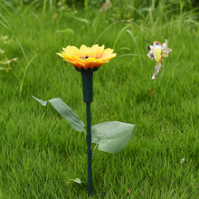 Vibration Solar Power Dancing Flying Butterflies Fluttering Hummingbird Garden Decoration decoration pour le jardin 5 Styles(China)